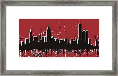New York City Skyline Pop Art Framed Print