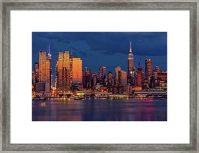 Framed Print featuring the photograph New York City Skyline Pride by Susan Candelario
