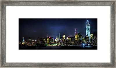 Framed Print featuring the photograph New York City Skyline by Theodore Jones