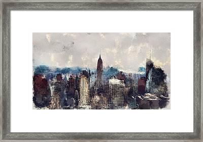 New York City Skyline Framed Print by Yury Malkov