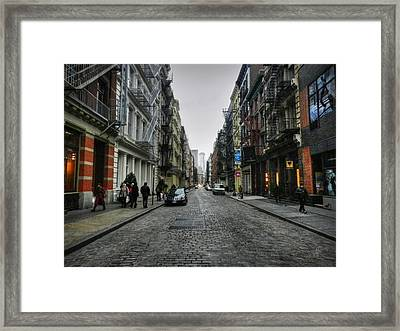 New York City - Soho 003 Framed Print