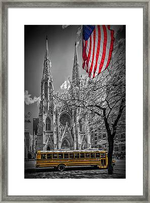 New York City St. Patrick's Cathedral Framed Print by Melanie Viola