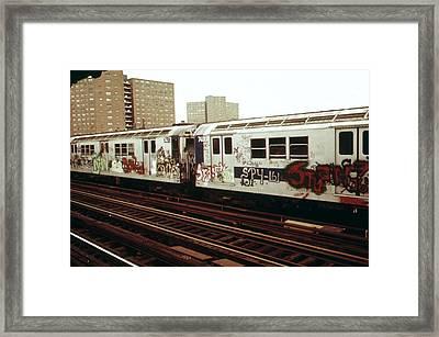 New York City Subway. A Graffiti Framed Print by Everett