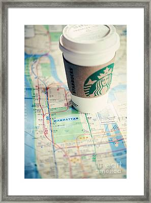 New York City Subway Map Framed Print by Kim Fearheiley