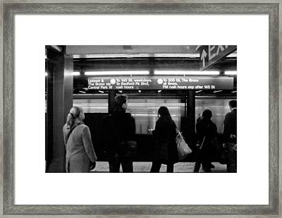 New York City Subway Framed Print by Patrick  Flynn