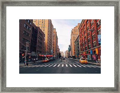 New York City - Summer Framed Print by Vivienne Gucwa