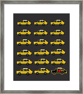 New York City Taxi Framed Print by Art Spectrum