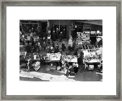 New York City, The Essex Street Market Framed Print
