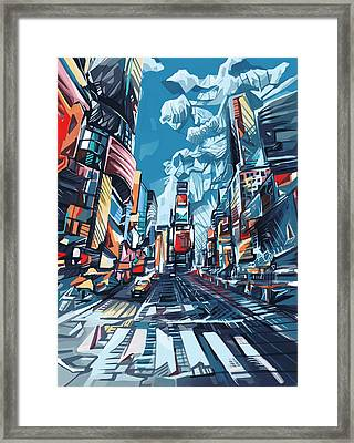 New York City-times Square Framed Print