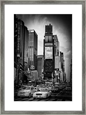 New York City Times Square - Monochrome Framed Print