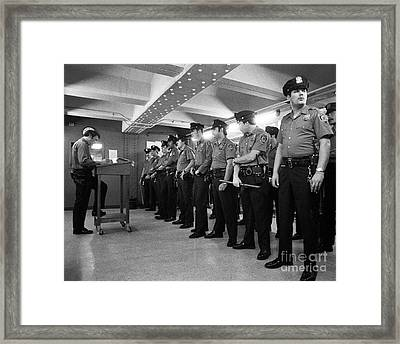New York City Transit Police 1978 Framed Print by The Harrington Collection