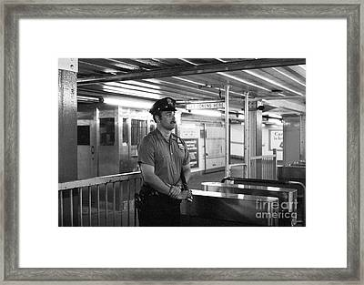 New York City Transit Police Officer 1978 Framed Print by The Harrington Collection