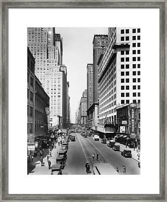 New York Citys 42nd Street Framed Print