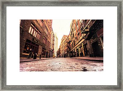 New York City's Stone Street Framed Print by Vivienne Gucwa