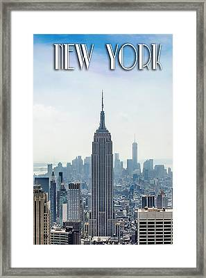 New York Classic Framed Print by Az Jackson
