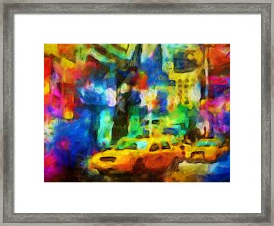 New York Colorstorm Framed Print by Lutz Baar