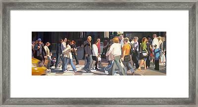 New York Crosswalk Framed Print by Merle Keller