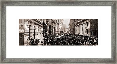 New York Curb Exchange In 1902.  The Framed Print