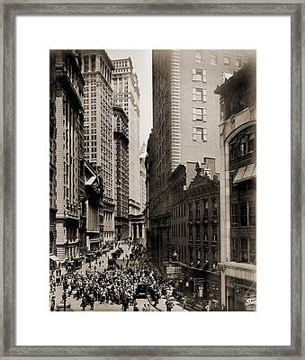 New York Curb Exchange In 1916. In 1921 Framed Print