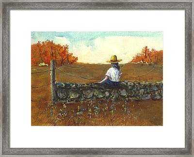 New York Fall Wall Framed Print