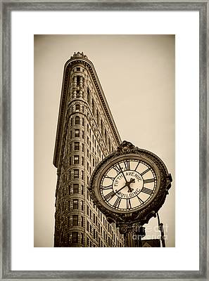 New York Flatiron Framed Print by Juergen Held