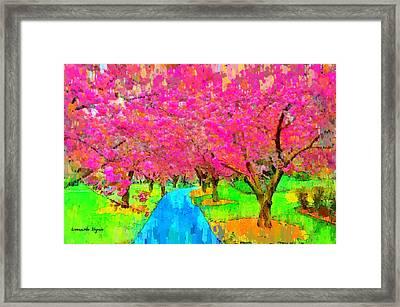 New York Flower - Pa Framed Print