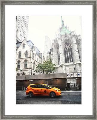 New York Fog Framed Print
