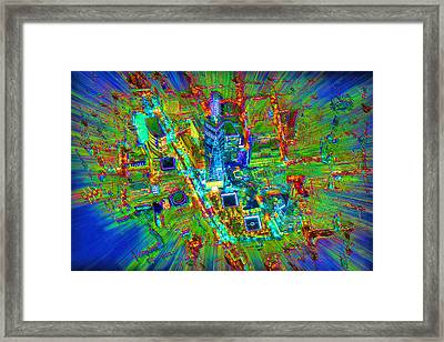 New York Freedom Tower Lower Manhattan 2 Framed Print by Tony Rubino