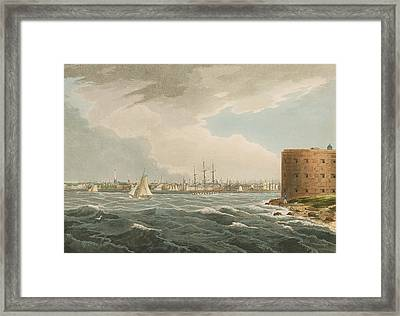 New York From Governors Island Framed Print