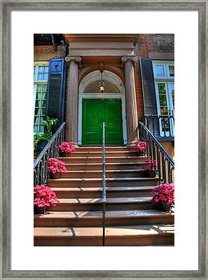 New York Front Porch Framed Print by Kelly Wade