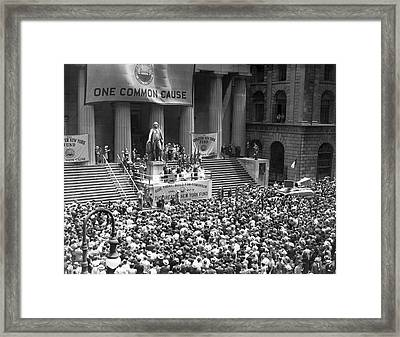 New York Fund Raiser Framed Print by Underwood Archives