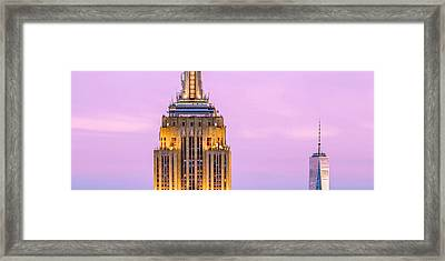 New York Giants Framed Print by Az Jackson