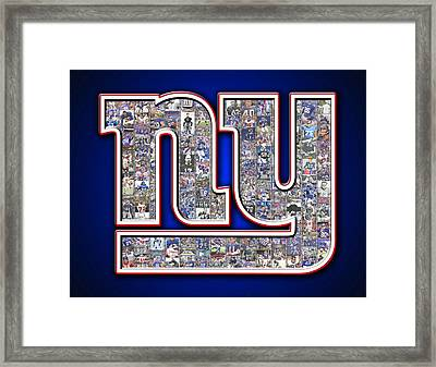 New York Giants Framed Print by Fairchild Art Studio
