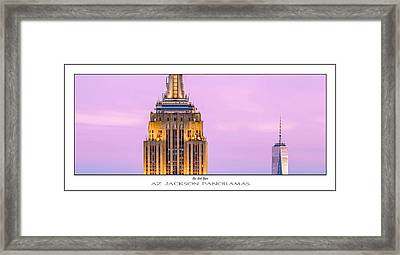 New York Giants Poster Print Framed Print by Az Jackson
