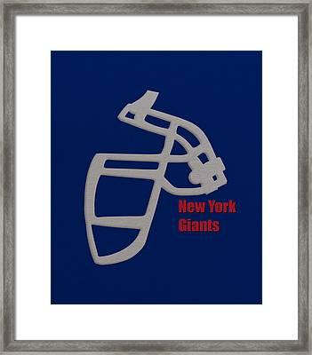 New York Giants Retro Framed Print by Joe Hamilton