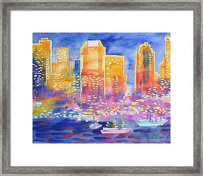 New York Great City Silhouettes.2007 Framed Print by Natalia Piacheva