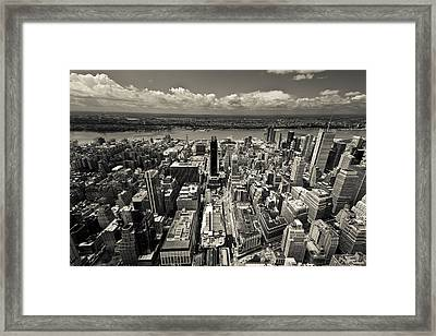 New York Husdon Framed Print
