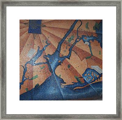 New York In Mosaic Framed Print by Rob Hans