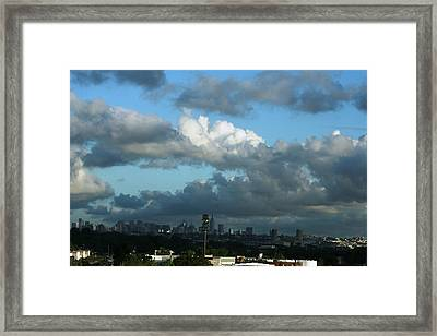 New York In The Distance  Framed Print by Paul SEQUENCE Ferguson             sequence dot net