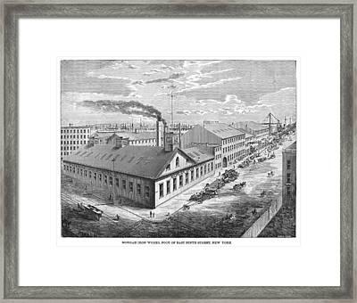 New York: Iron Works, 1876 Framed Print by Granger