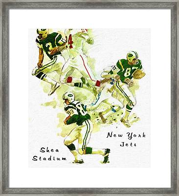New York Jets 1960's Artwork Framed Print