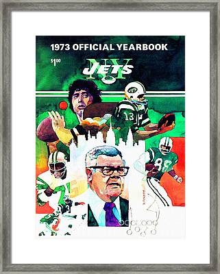 New York Jets 1973 Yearbook Framed Print by Big 88 Artworks