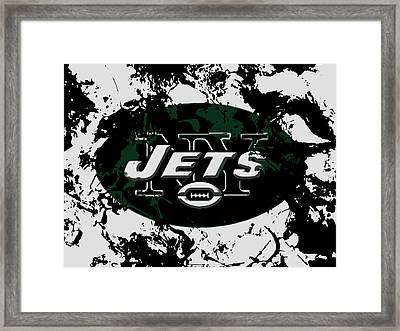New York Jets 1b Framed Print by Brian Reaves