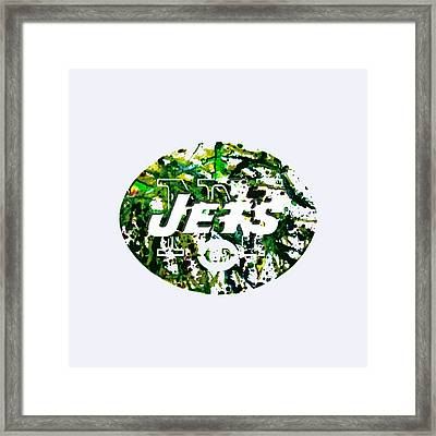 New York Jets Framed Print by Brian Reaves