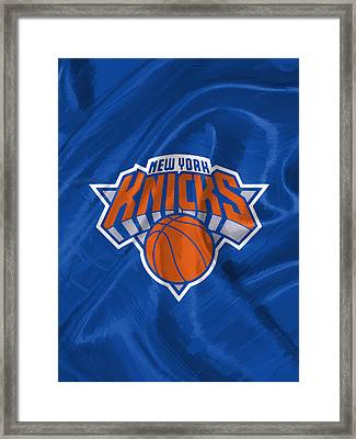 New York Knicks Framed Print by Afterdarkness