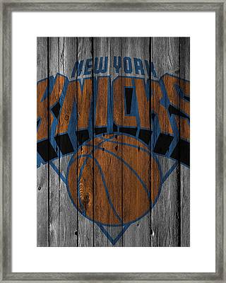 New York Knicks Wood Fence Framed Print