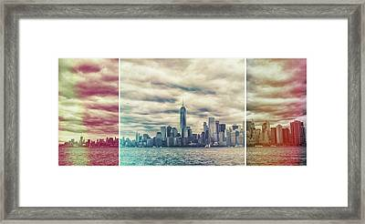 New York Lightleak Framed Print by Martin Newman