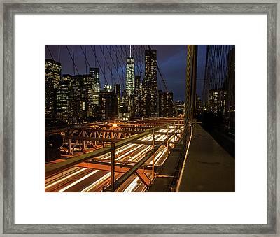 New York Lights Framed Print