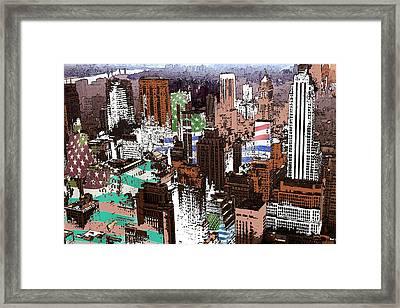New York Mid Manhattan - Modern Art Framed Print