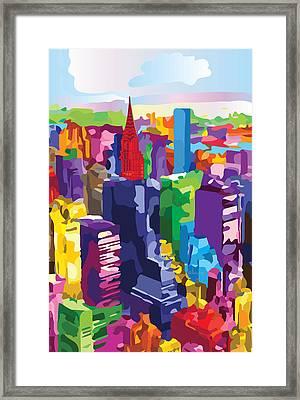New York, Manhattan Framed Print